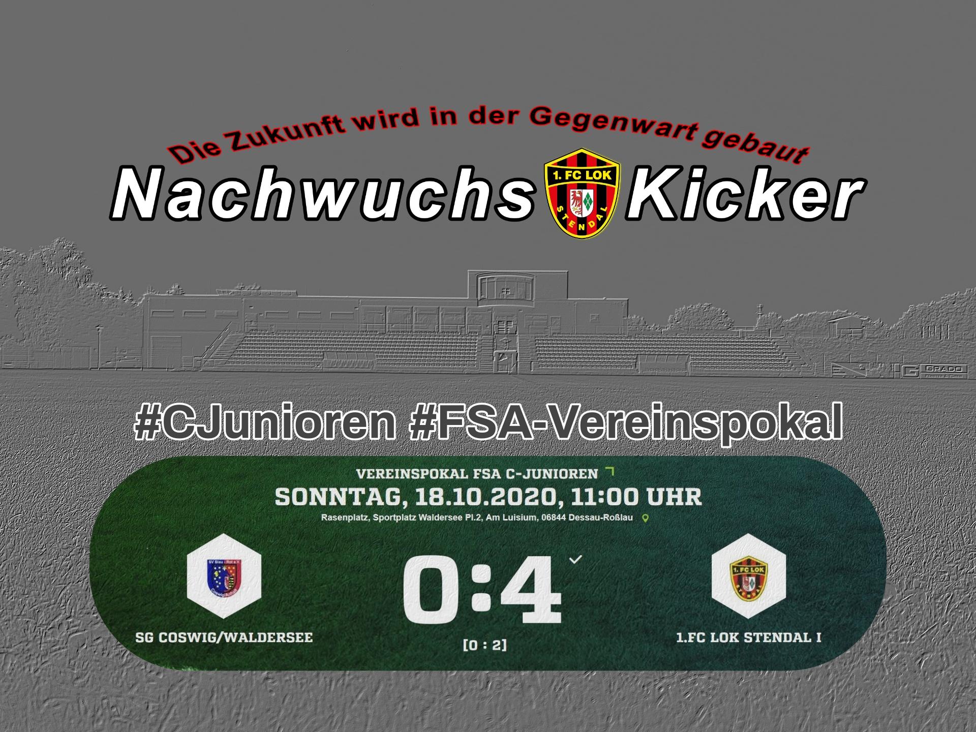 #CJunioren ► FSA-Vereinspokal - 1. FC Lok Stendal