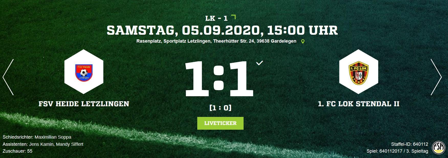 Landesklasse 1 ► 3. Spieltag - 1. FC Lok Stendal