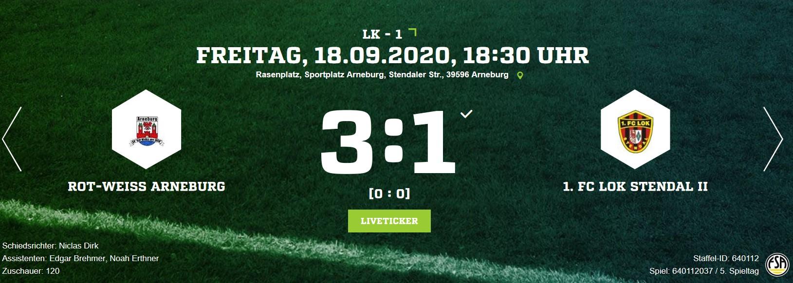 Landesklasse 1 ► 5. Spieltag - 1. FC Lok Stendal