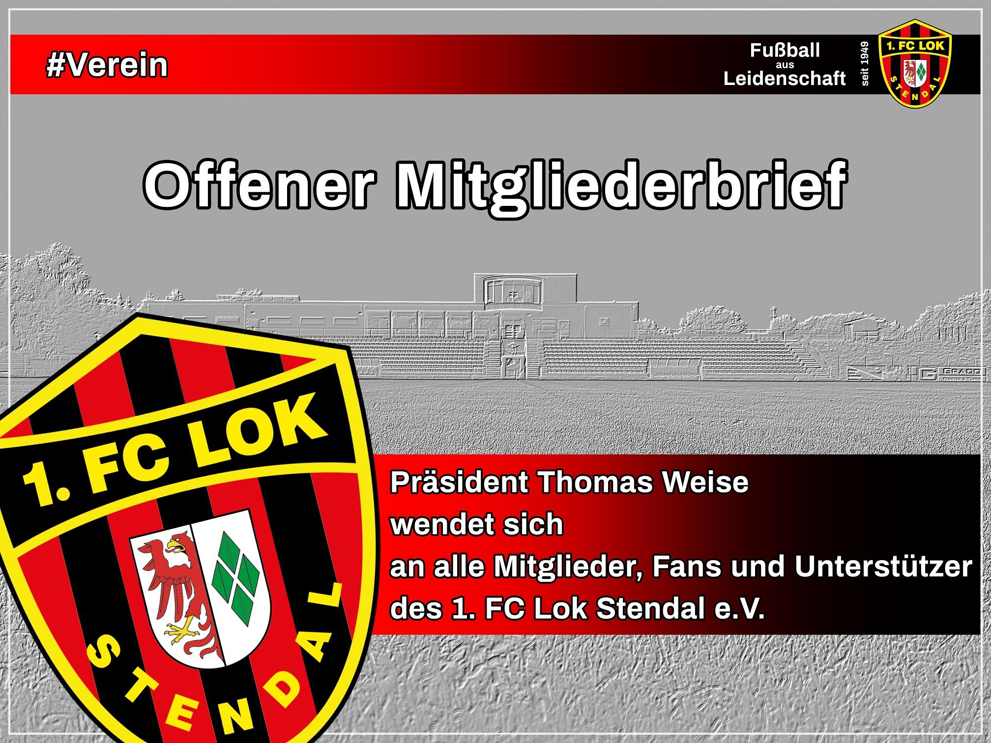 Offener Mitgliederbrief - 1. FC Lok Stendal