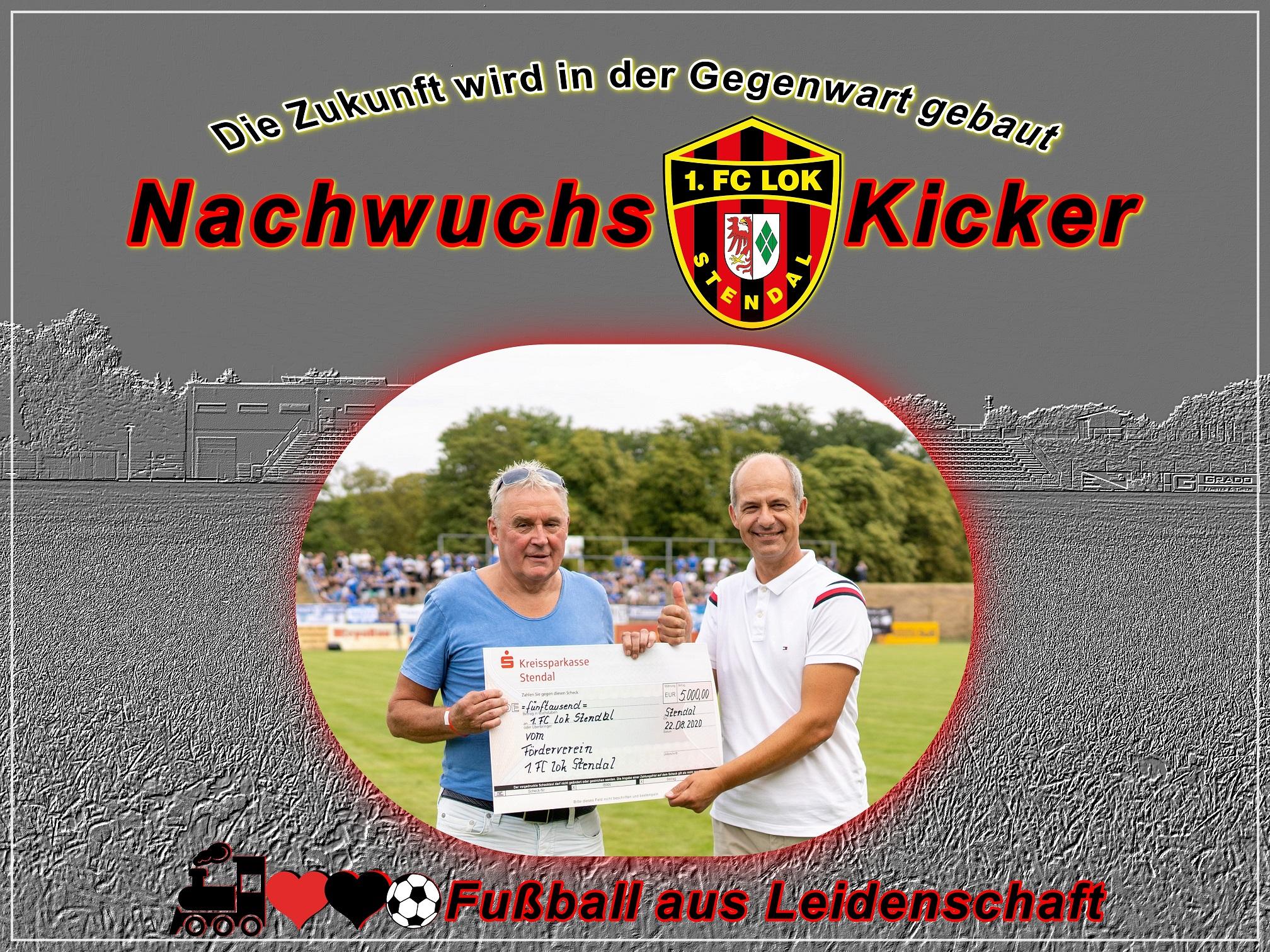 Scheckübergabe vom Förderverein - 1. FC Lok Stendal