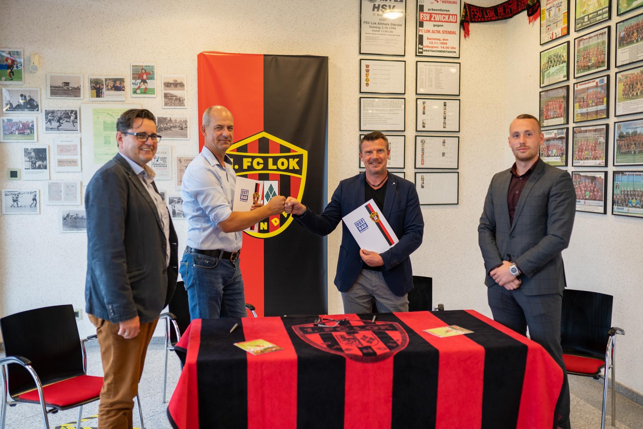 Sponsoren-Engagement ausgeweitet - 1. FC Lok Stendal