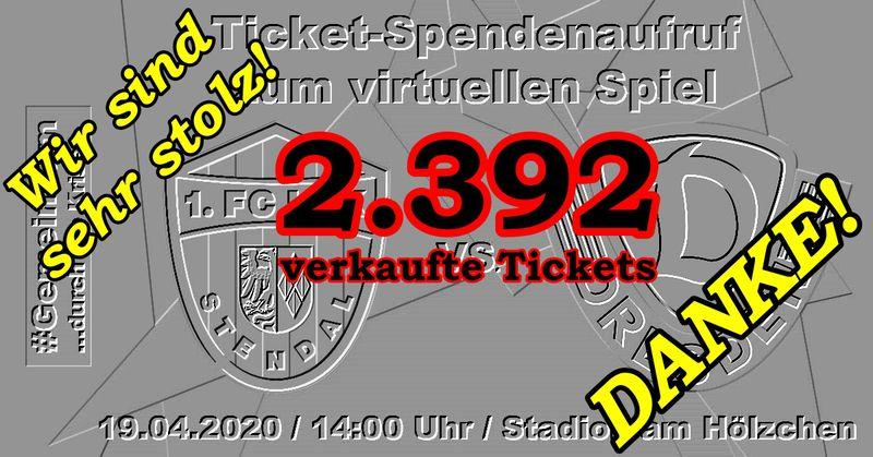 DANKE für Eure Ticket-Spenden - 1. FC Lok Stendal